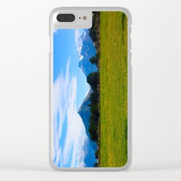 Mountains & Meadows Clear iPhone Case