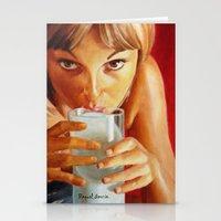milk Stationery Cards featuring Milk by Raquel García Maciá