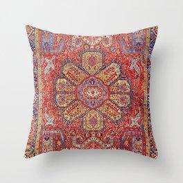 Heriz Azerbaijan Northwest Persian Carpet Print Throw Pillow