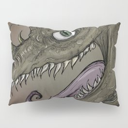 Brown dragon illustration Pillow Sham