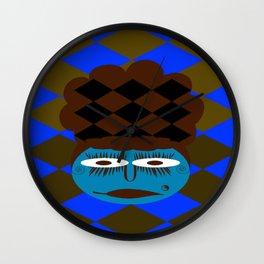 bbnyc's blue girl Wall Clock