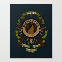 bucky barnes Canvas Prints featuring Sgt Bucky Barnes (green) by emptystarships