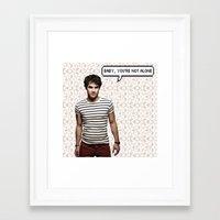 darren criss Framed Art Prints featuring Darren Criss  by Hannah