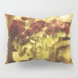 Red roses on the street Pillow Sham