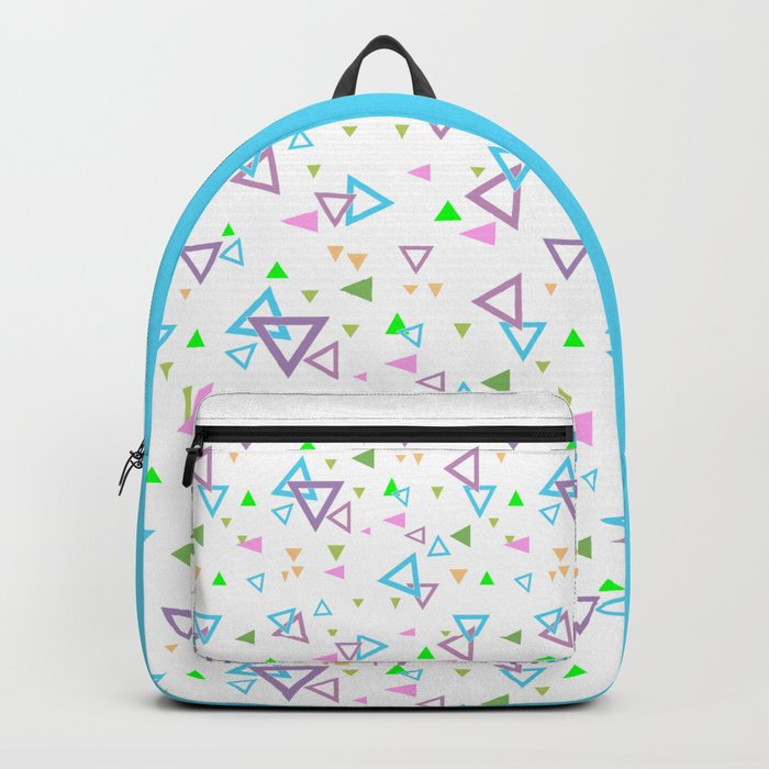 Abstract triangles pattern with triangular Backpack