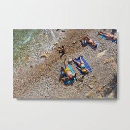 Underpass Beach Metal Print