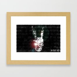 Wake Up Donnie Framed Art Print