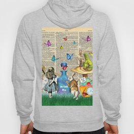Alice In Wonderland Dictionary Page Celebration Hoody