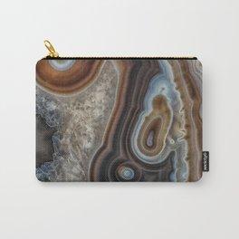 Mocha swirl Agate Carry-All Pouch