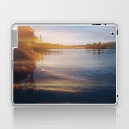 Leaking sunshine across the lake Laptop & iPad Skin