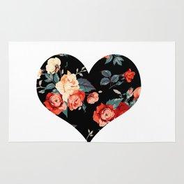 Rose Noir Heart Rug