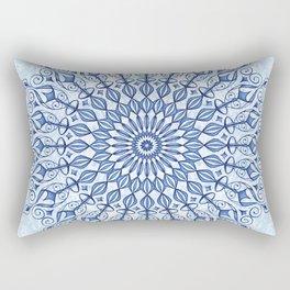 Mandala in  blue Rectangular Pillow