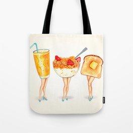 Breakfast Pin-Ups Tote Bag