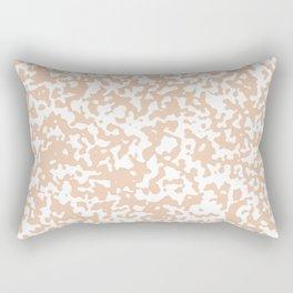 Small Spots - White and Desert Sand Orange Rectangular Pillow