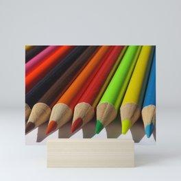Colored Pencils Macro Mini Art Print