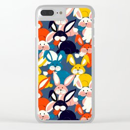 Rabbit colored pattern no2 Clear iPhone Case