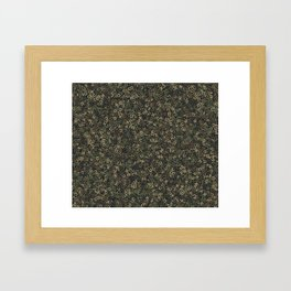 Four camouflage letters Framed Art Print