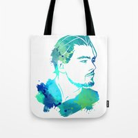 leonardo dicaprio Tote Bags featuring DiCaprio by BIG Colours