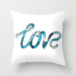 "The Love Series #25 - ""Love"" (typography) Throw Pillow"