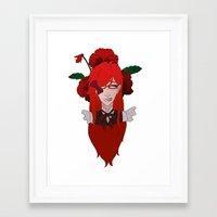 kuroshitsuji Framed Art Prints featuring Grell Sutcliff // Pansy by Nadidrawings