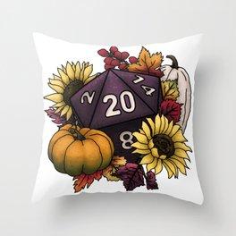 Harvest D20 - Autumn Tabletop Gaming Dice Throw Pillow