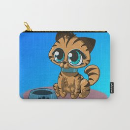 kitty with blue eyes Carry-All Pouch