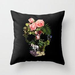 The Skeleton Garden Throw Pillow