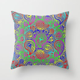 Circular paisley Throw Pillow
