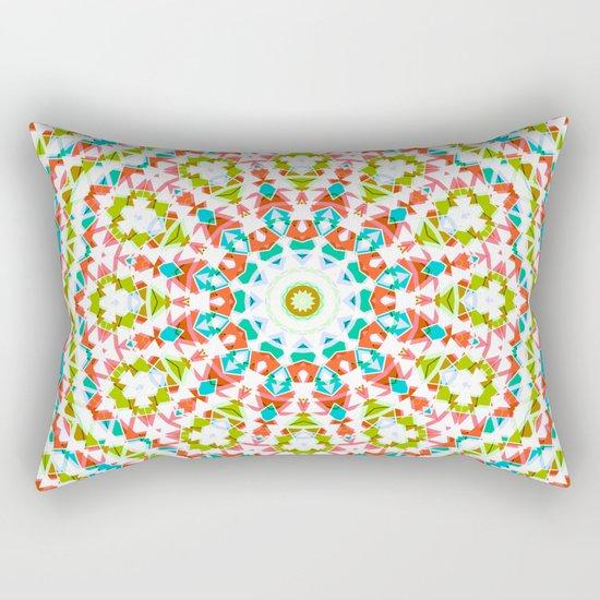 Kaleidoscope . Village . Rectangular Pillow