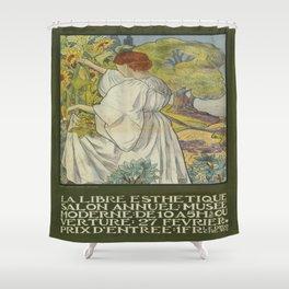 Vintage poster - La Libre Esthetique Shower Curtain