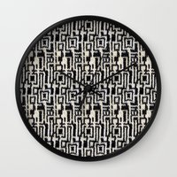 knit Wall Clocks featuring Maze Knit by JoAnna Seiter