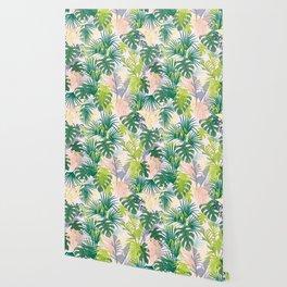 Pink jungle pattern Wallpaper