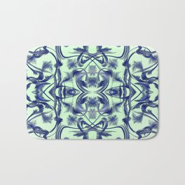 blue in blue Digital pattern with circles and fractals artfully colored design for house and fashion Bath Mat