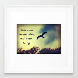 Take these broken wings Framed Art Print