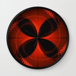 Orange Butterfly Wall Clock