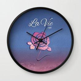 La Vie en Rose-Inspirational-Flower Wall Clock