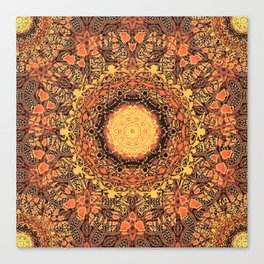 Marigold Mandala Canvas Print
