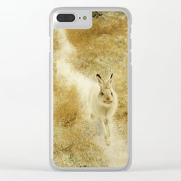 Bruno Liljefors - A Winter - Hare In A Landscape. Clear iPhone Case