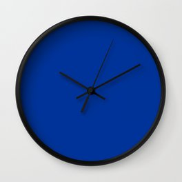 Smalt (Dark powder blue) - solid color Wall Clock