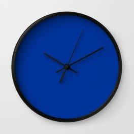 Smalt (Dark powder blue) - solid color Wall Clock