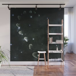Cosmos Half Hart of Harts in Black & White Wall Mural
