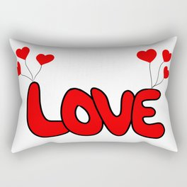 Love balloon Rectangular Pillow