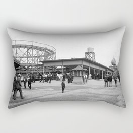 Euclid Beach Park Causeway Rectangular Pillow