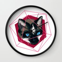 Cat Trapped in Geometry Wall Clock
