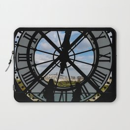 Paris cityscape through the giant glass clock at the Musee d'Orsay Laptop Sleeve