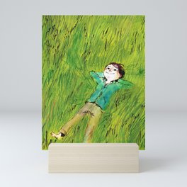 On the grass Mini Art Print