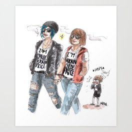 "Chloe ""bad influence"" Price Art Print"
