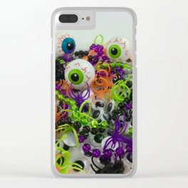 A fun photo of Halloween gifts for trick-or-treating Clear iPhone Case