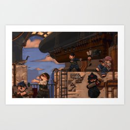 Airship Hangar Art Print