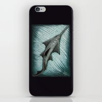 biology iPhone & iPod Skins featuring Sawfish - Acrylic Painting by Amber Marine